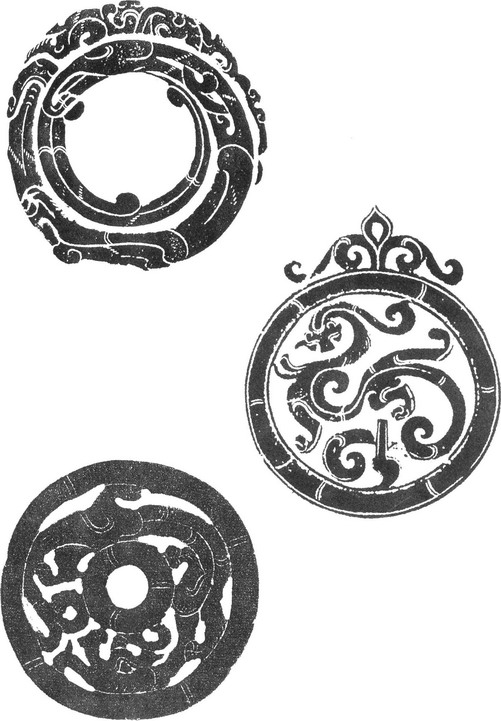古代花纹样_古代圆形玉佩纹样圆形装饰纹样