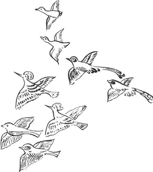 唐朝清朝手绘纹样
